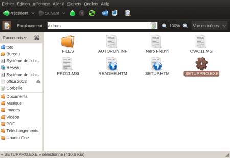 Capture-cdrom-Navigateur de fichiers